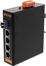 Networx Industrial Gigabit Ethernet Fiber Media Converter - 1000Base-LX - LC Multimode, 550m, 850nm, 4 port