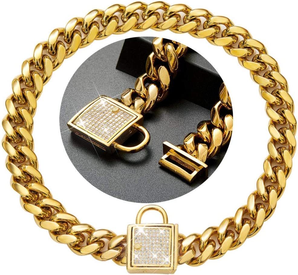 Custom 18k Gold Plated Stainless Chain Curb New New mail order Shipping Free Stylish Steel Metal
