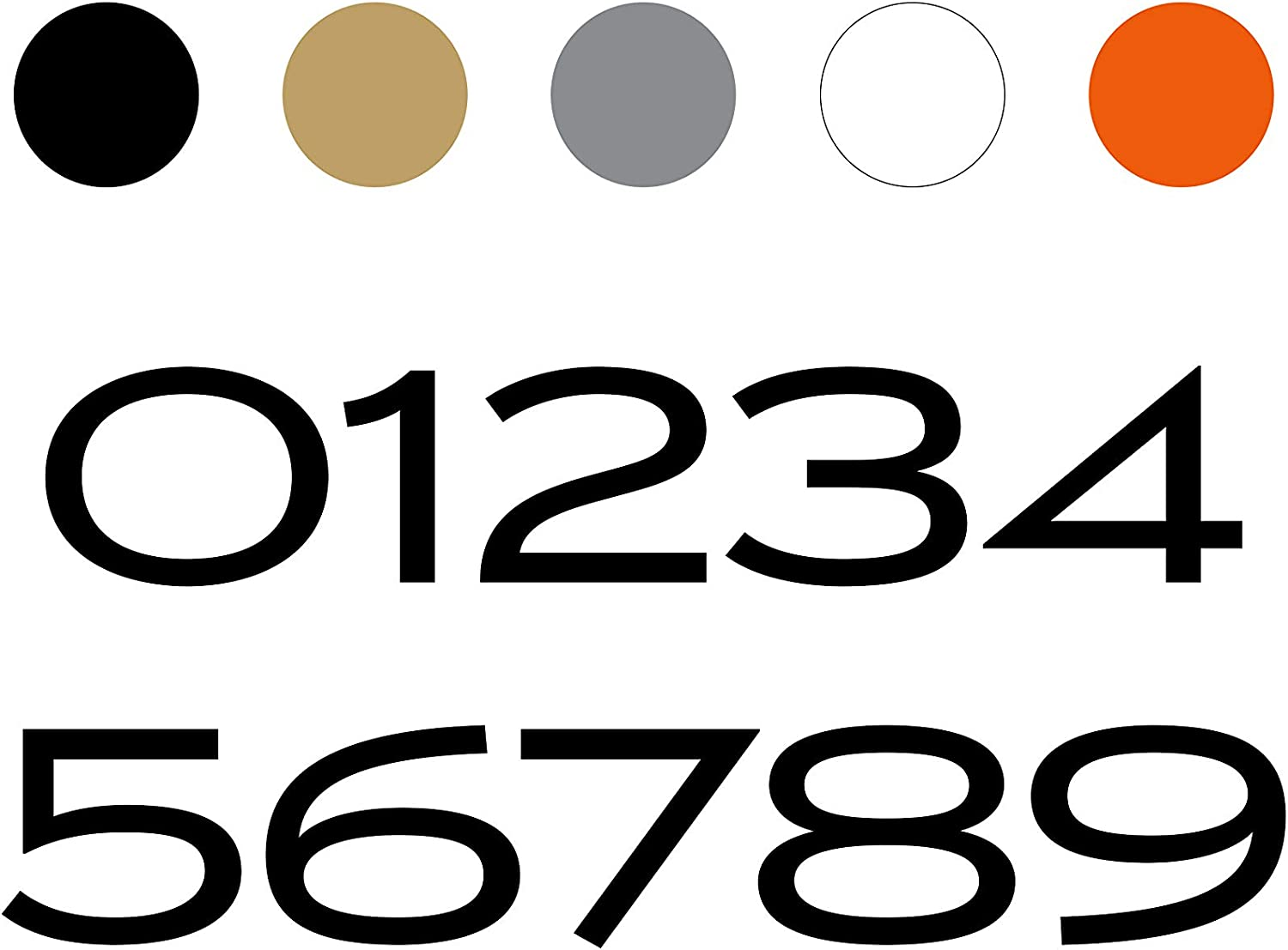 modbox USA Mailbox Address Numbers Style in Font Custom quality assurance SEAL limited product Luxury