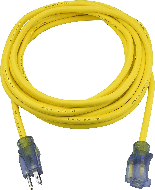 Prime Miami Mall Wire Cable LT511825 25-Foot Genuine 12 Tough Bulldog 3 SJTOW Ext