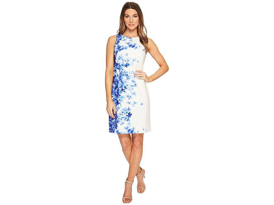 LAUREN Ralph Lauren Toralina Caspian Sea Dress (Colonial Cream/Blue/Multi) Women