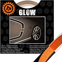THE GLOW(ザ・グロウ) ORANGE 幅12.7mm×長さ9.1m 塗装を侵さないリフレクター リムテープ TIRE PENZ製
