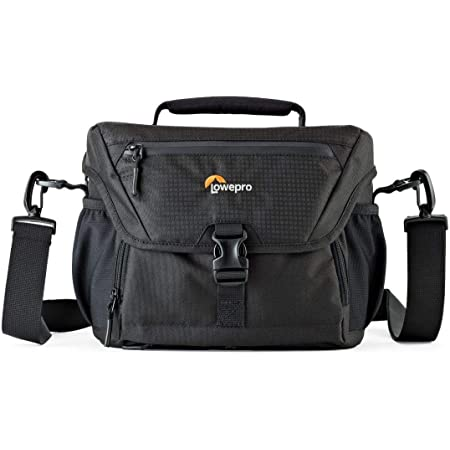 Lowepro LP37123 Nova 180 AW II Camera Bag, Waterproof, Customizable, Fits Pro-Depth DSLR with Lens, Compact Drone, 3-4 Additional Lenses, Flash, Black