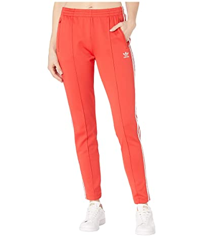 adidas Originals Superstar Track Pants (Lush Red/White) Women