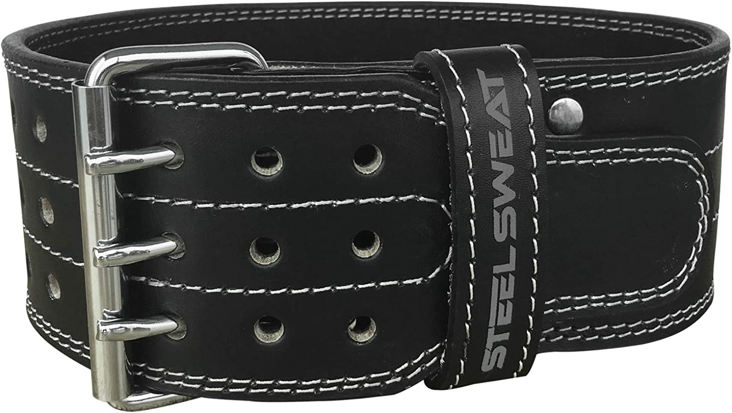 Steel Sweat Powerlifting Belt for Weight Lifting  4  Wide  Triple Prong  Heavy Duty Adjustable Weightlifting Belt, Leather  Claw Black