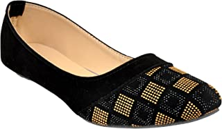 Altek Designer Slip-on Black & Brown Ballerina for Women