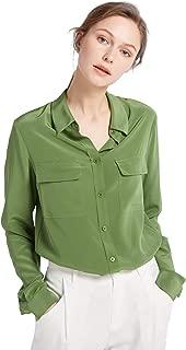 LilySilk Women's 100% Silk Blouse Long Sleeve Ladies Shirts 18 Momme Silk