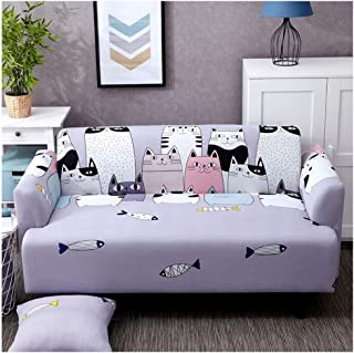 Page Harrington644000 Lovely Cats Spandex Sofa Cover Cute Cats Pattern Sectionalr All Inclusiver Furniture Protector,Cats,Four Seat Sofa
