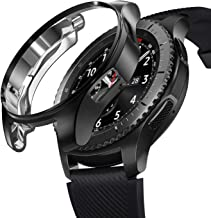 Mapzi Soft Slim TPU Case All-Around Protective Cover Anti-Scratch Bumper Shell Compatible with Samsung Gear S3 Smartwatch/Galaxy Watch 46mm (Black)