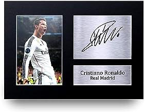 HWC Trading Cristiano Ronaldo A4 Sin Marco Regalo De Visualización De Fotos De Impresión De Imagen Impresa Autógrafo Firmado por Real Madrid Los Aficionados Al Fútbol