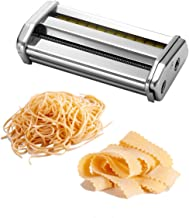 Ovente Double Pasta Cutter Attachment for Angel Hair (1mm), Capellini (1mm), and Lasagnette (12mm), Detachable, Chrome-Plated Stainless Steel (ACPPA7050S)