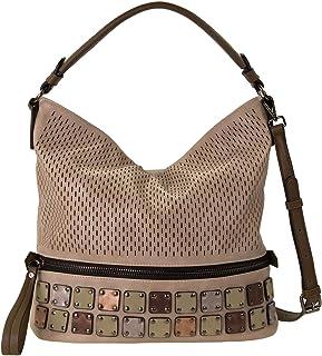 SOCCX Amelie Shoulder Bag Sand