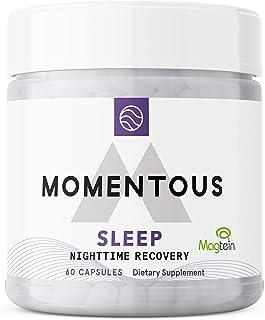 "Momentous Nighttime Recovery Sleep or""New"" Elite Sleep Capsule, Melatonin Magnesium NSF Tested Sleeping Aid (60 Servings/60 Capsules)"