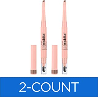 Maybelline New York Total Temptation Eyebrow Definer Pencil, Soft Brown, 0.01 Ounce (Pack of 2)