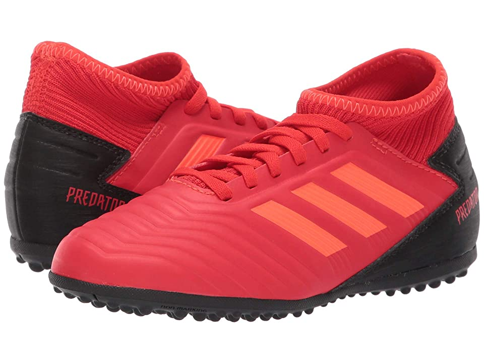 adidas Kids Predator 19.3 TF Soccer (Little Kid/Big Kid) (Active Red/Solar Red/Black) Kids Shoes