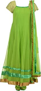 Fatiz Women's Softnet Churidar (123, Green, XL)
