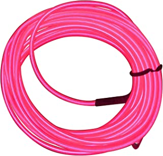 M.best EL Wire Kit Glowing Neon Light with Battery Pack (15FT, Pink)