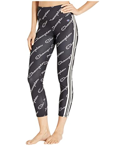 Champion Phys Ed High-Rise Tights Print (Champion Outline Script Black) Women