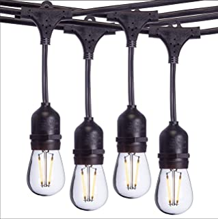 Sterno Home 48-Ft Vintage-Style Waterproof Outdoor LED String Lights – Hanging Edison..