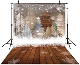 Allenjoy 5x7ft Christmas Photography Backdrop Winter Snow Wood Glitter Pine Tree Snowflake Forest Bokeh Newborn Kids Background Decoration Photo Studio Props