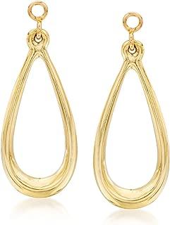 14kt Yellow Gold Open Teardrop Earring Jackets