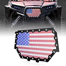 Xprite Black Steel Grille with U.S. Flag Mesh Grill for 2017-2018 Polaris RZR 900 S & 1000 XP