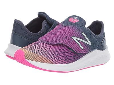 New Balance Kids Fresh Foam Fast (Little Kid) (Light Mango/Peony/Vintage Indigo) Girls Shoes