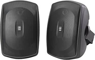 Yamaha NS-AW190BL 2-Way Indoor/Outdoor Speakers (Pair, Black)