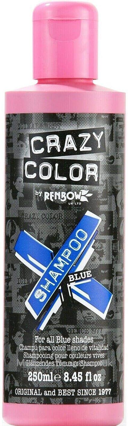 Champú para Cabello con Coloración Crazy Color 250ml (Azul)