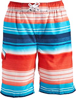 Kanu Surf Men's Victor Stripe Quick Dry Beach Board Shorts Swim Trunk