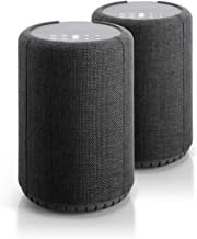 Audio Pro A10 Wireless Multi-Room WiFi Bluetooth Connected Speaker - HiFi - Compatible with Alexa - Dark Grey - 2 Pack