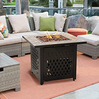 636643 Coral Coast South Isle Fire Pit Chat Set with Mosiac Fire Pit