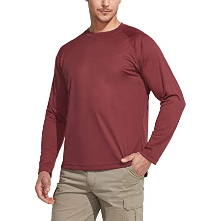 CQR Men's UPF 50+ Outdoor T-Shirts, UV Sun Protection Casual Water T-Shirts, Running Training Shirt