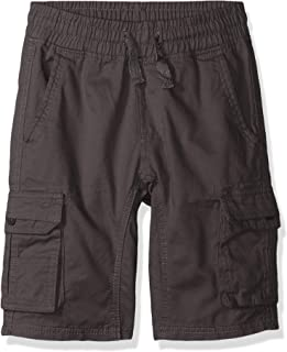 Southpole boys Twill Cargo Jogger Shorts in Basic Solid Colors Shorts