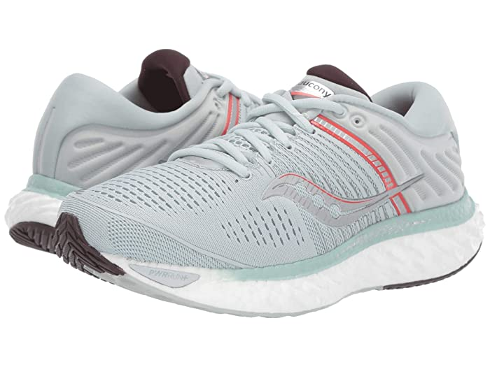 Saucony  Triumph 17 (Sky Grey/Coral) Womens Shoes