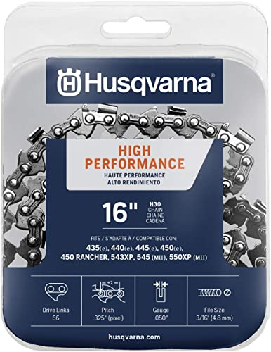 """new arrival Husqvarna sale 531300437 H-30 Chainsaw Chain 16"""" .050 Gauge .325 Pitch Kickback Low-Vibration, 16 inches, high quality Orange/Gray online"""