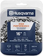 "Husqvarna Chainsaw Chain 16"" .050 Gauge .325 Pitch Low Kickback Low-Vibration"