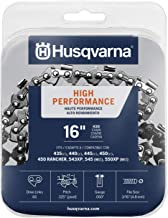 "Husqvarna Chainsaw Chain 16"" .050 Gauge .325 Pitch Low Kickback Low-Vibration"