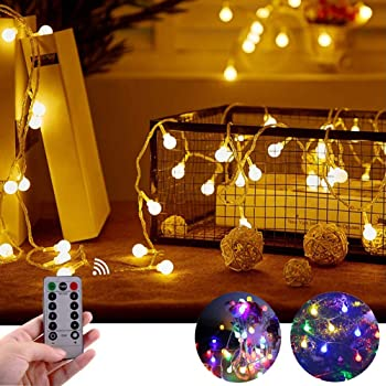 10m LED Luce Solare Catena Sfera IMPERMEABILE ESTERNO dekobeleuchtung Bianco Caldo da Giardino