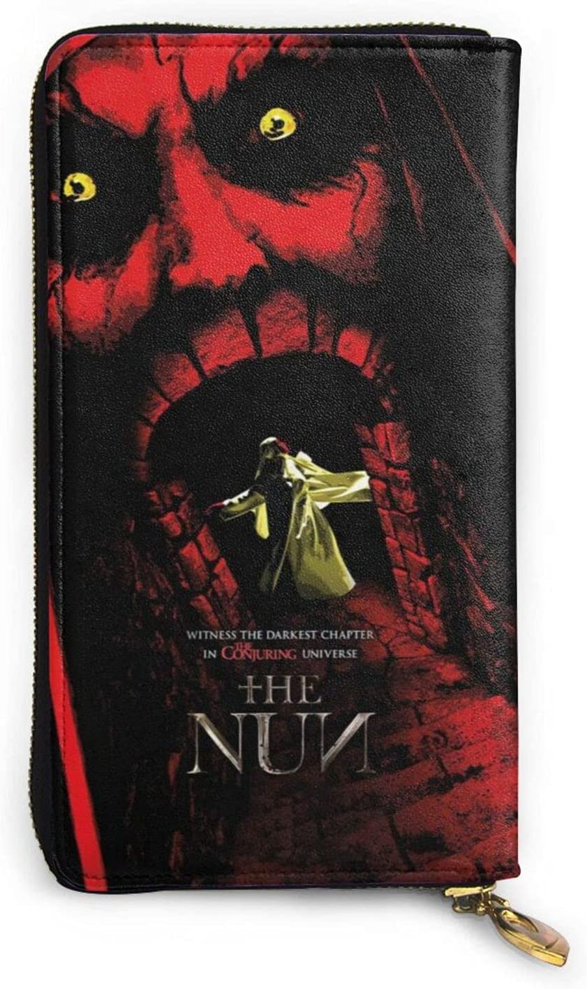 The Nun Wallet Mens Womens Slim Capa Max 47% OFF Large Leather High quality new Zipper