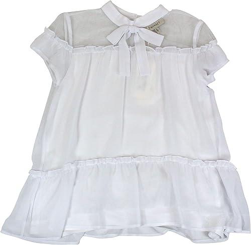 Twin-Set Fille 191GJ209000001 Blanc Polyester chemisier