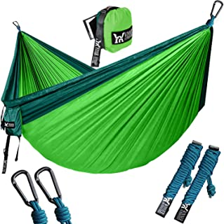 WINNER OUTFITTERS Double Camping Hammock - Lightweight...