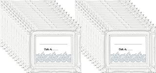 MCS Wedding Photo Frame/Placecard Holder, 69040, 24-Pack, White