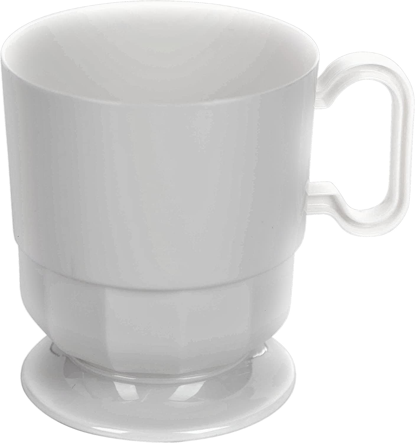 Exquisite White Premium Plastic Coffee Cups - 8 oz Coffee Mug - White Tea Cup - 192 - Count