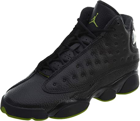 Air Jordan 13 Retro Big Kids' Basketball Shoes Black/Altitude Green 414574-042