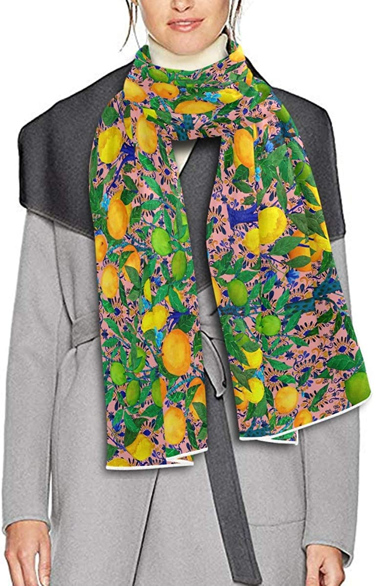 Scarf for Women and Men Citrus Trees Shawl Wraps Blanket Scarf Soft warm Winter Oversized Scarves Lightweight