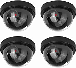 NONMON Fake Dummy Dome Camera Homes & Business Security CCTV Cameras with Flashing Red LED Light for Indoor and Outdoor-4 ...