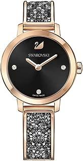 Swarovski Cosmic Rock Watch 5376068 Black dial Rose Gold Tone