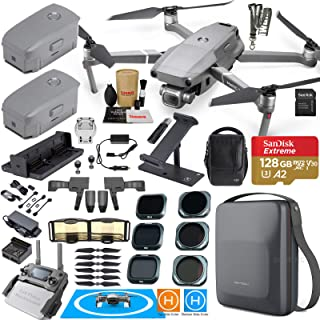 DJI Mavic 2 Pro Drone Quadcopter and Fly More Kit Combo Touring Bundle Comes with 3 Batteries, Hasselblad Camera Gimbal, PGYTECH Stylish Carrying Case and Must Have Accessories