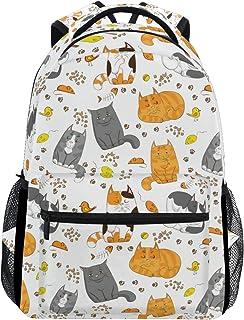マキク(MAKIKU) リュック 大容量 軽量 リュックサック レディース 高校生 A4 中学生 小学生 通学 猫柄 アニメ 動物